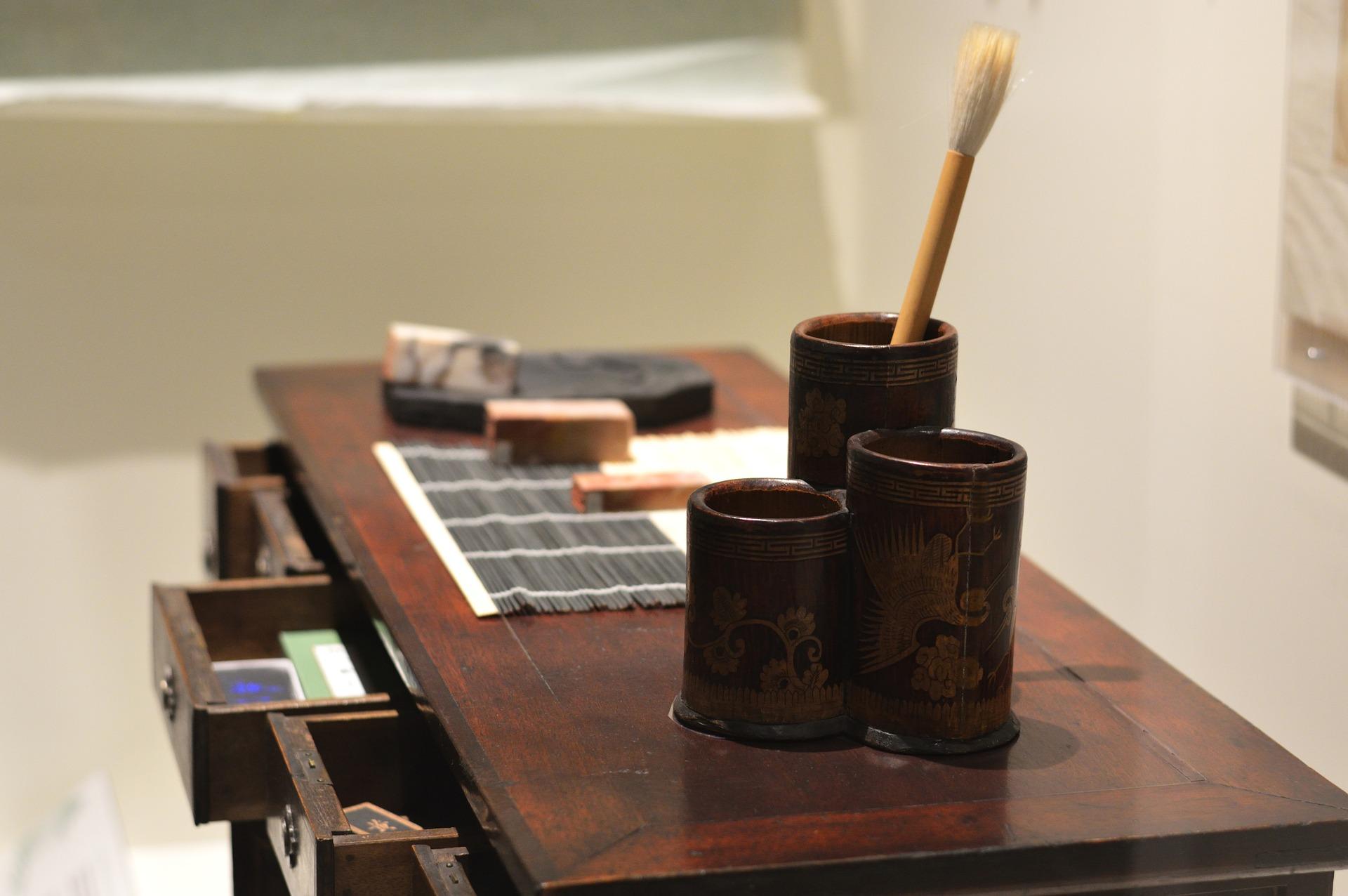Japanese calligraphy desk
