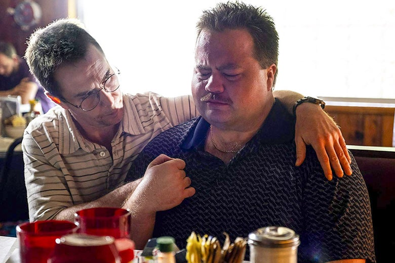 "Sam Rockwell and Paul Walter Hauser in ""Richard Jewell,"" Gildshire at the Movies' honored film."