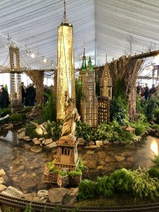 New York Botanical Garden Holiday Train Show 2019: Statue of Liberty & Freedom Tower