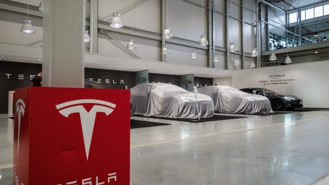 Tesla's plans to win the windshield tech wars are under wraps here in their production facility.