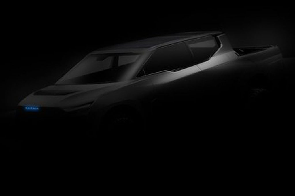 Karma Automotive's Electric Truck was teased earlier with this photo.