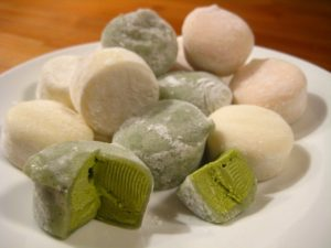 Sticky Rice Confection Japanese Mochi Ice Cream. Is Mochi Gluten and Dairy-Free?