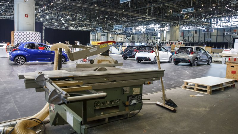 The empty arena that would have held the 2020 Geneva Car Show