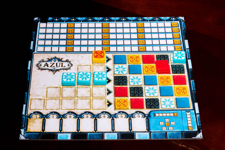 A new and favorite board game: Azul