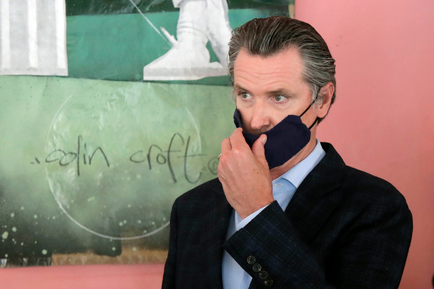 California Splits in Two on Gov. Newsom's Mask Directive - Gildshire