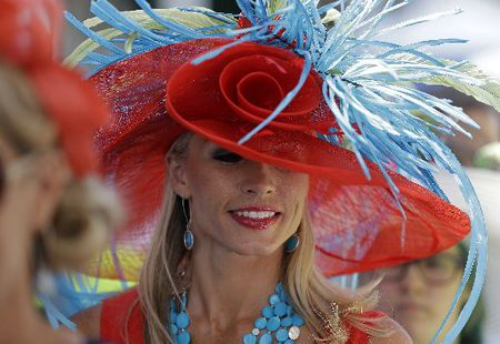 This lovely piece of headwear was worn at the Kentucky Derby in 2019