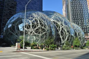 AWS Certified Solutions Architect - Amazon Spheres from the Sixth Street side, Seattle, Washington