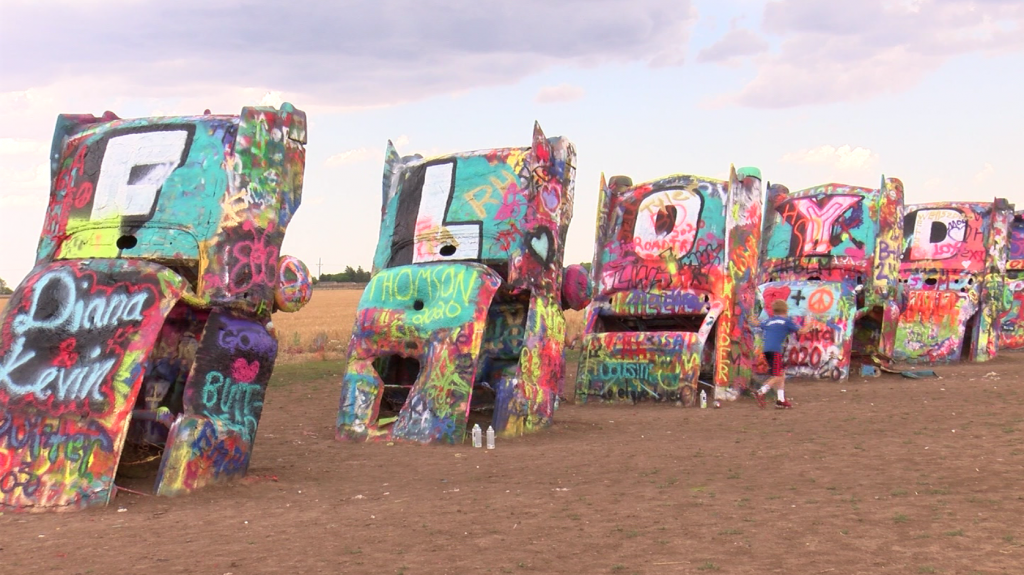 It takes a road like Route 66 to host Cadillac Ranch.