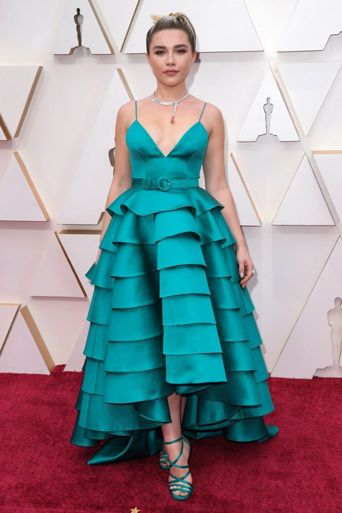 Last year the gorgeous Florence Pugh was blissfully unaware of the Academy Awards and the COVID-19 that would change this year's ceremony when she walked the red carpet.