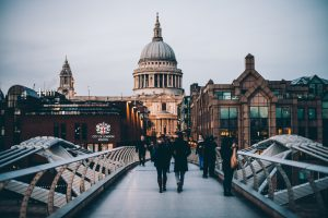 The Best Cities for Students: London, England - View of St. Paul's Cathedral from Millennium Bridge